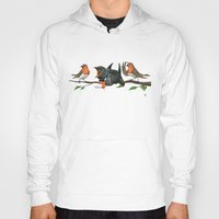 cock Hoodies featuring Cock Robin by rob art | illustration