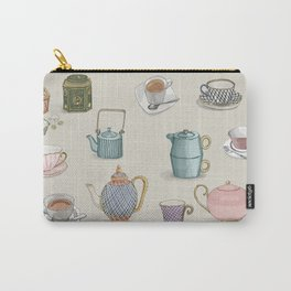 Vintage Teacups and Teapots Carry-All Pouch