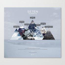 7 summits Canvas Print