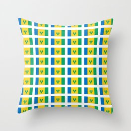 flag of Saint Vincent and the Grenadines-Saint Vincent,Grenadines,Vincentian, Vincy,Kingstown Throw Pillow