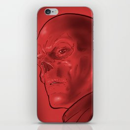 The Red Skull iPhone Skin