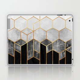 Charcoal Hexagons Laptop & iPad Skin