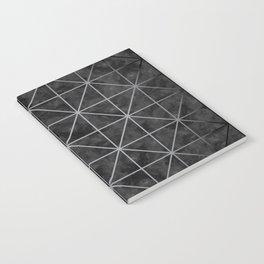 Geometric pattern in black watercolor Notebook