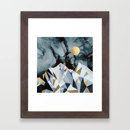 Midnight Peaks Framed Art Print