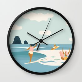 Wave Sisters Wall Clock
