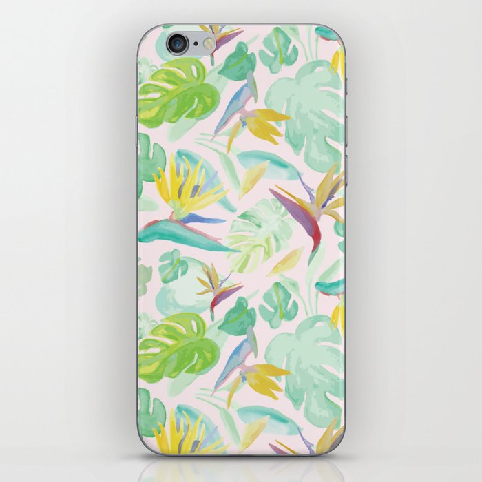 Birds of Paradise Pattern iPhone Skin