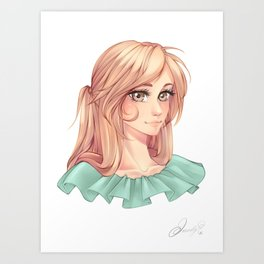 Strawberry blonde Art Print