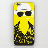 fear and loathing iPhone & iPod Skins featuring Fear and Loathing in Las Vegas by Jordi Hayman Design