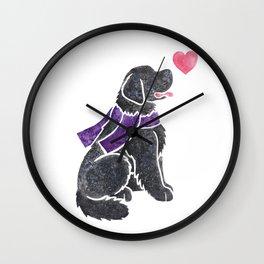 Watercolour Newfoundland Wall Clock