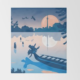 Dragon Boat Toronto Canada by Cindy Rose Studio Throw Blanket
