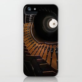 Pretty brown spiral staircase iPhone Case