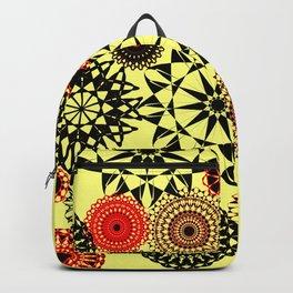 Black/Red Pattern Backpack
