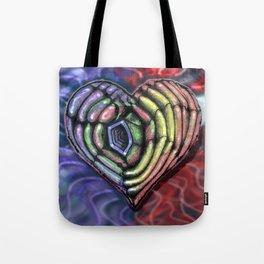 Colorful Hole Heart Tote Bag