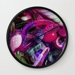 Purple Gummy Candy Wall Clock