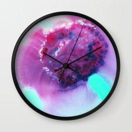 Violet Blur Wall Clock