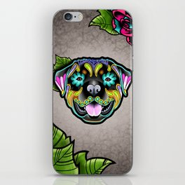 Rottweiler - Day of the Dead Sugar Skull Dog iPhone Skin