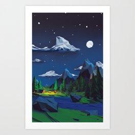 A simple night Art Print