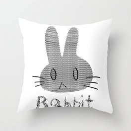 rabbit 573 Throw Pillow