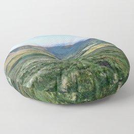 Hills Green Landscape Floor Pillow