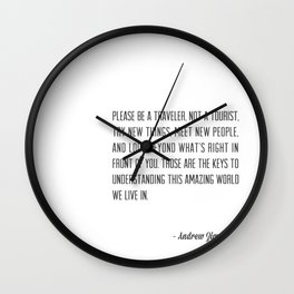 Andrew Zimmern Wall Clock