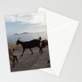 Goats by the sea Stationery Cards