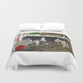 Black and white cow Duvet Cover