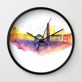 Washington D.C. Skyline Wall Clock