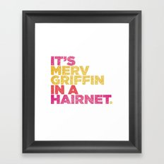 HAIRNET Framed Art Print