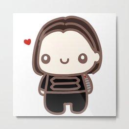 Bucky Heart Metal Print