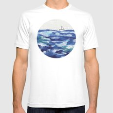 Lost at Sea MEDIUM Mens Fitted Tee White