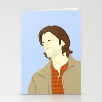 sam winchester Stationery Cards featuring Sam Winchester by thefluidlines