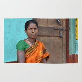 Tribal Woman from Orissa Rug
