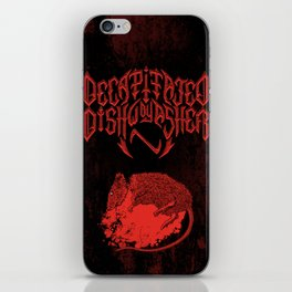 Decapitated by dishwasher III (red) iPhone Skin