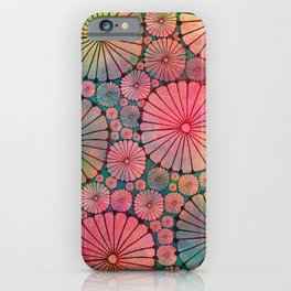Abstract Floral Circles iPhone Case