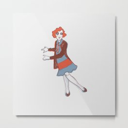 Flapper Metal Print