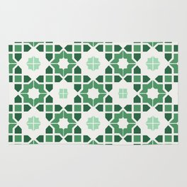Morrocan tiles in green Rug