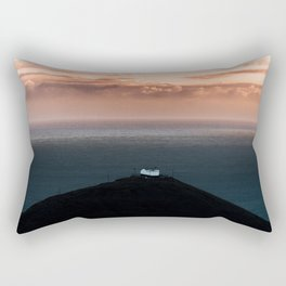 Lonely House by the Sea during Sunset - Landscape Photography Rectangular Pillow