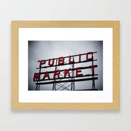 Public Market - Seattle Framed Art Print