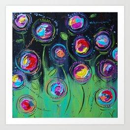 The Flowers Talk At Night Art Print