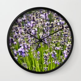 French Blue Lavender Wall Clock