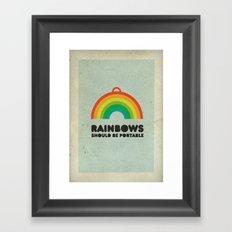 Rainbows should be portable. Framed Art Print