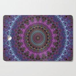 colorful fractal kaleidoscope Cutting Board