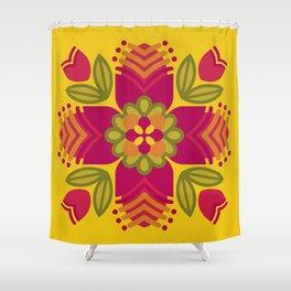 Graphic Floral Mandala [1] Shower Curtain