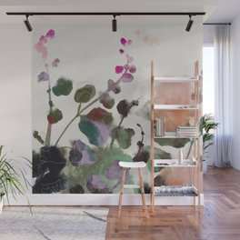 floral abstract summer autumn Wall Mural