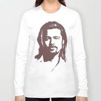 brad pitt Long Sleeve T-shirts featuring Brad Pitt :) by Dora Birgis
