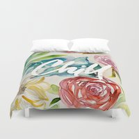 chill Duvet Covers featuring Chill by WatercolorDevo