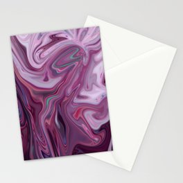 Pink and Purple Marble Design Stationery Cards