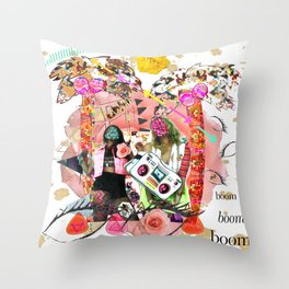 Rose-tinted Lashes In The Boom Boom Room Throw Pillow