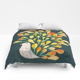 Watercolor Peacock Comforters