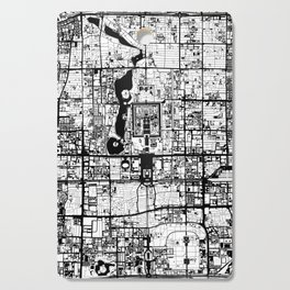 Beijing city map black and white Cutting Board